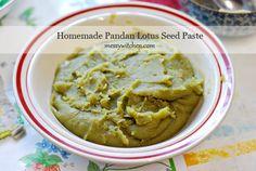 Homemade Pandan Lotus Seed Paste