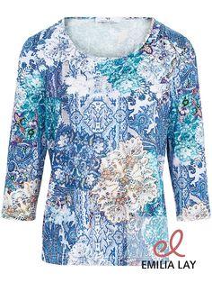 Blaues Blumenprint Shirt von Peter Hahn!
