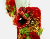 SALE Textile Embellished Earrings SHOWTIME