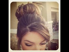 How to: Messy Bun for short/thin hair ♡