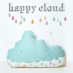 """happy cloud"" pillow"