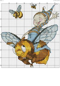 Elf riding a bumble bee