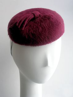 mini beret with cigarette or tassel at Leah C Couture Millinery - NYC
