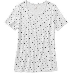 White Stag Women's Short Sleeve Scoop Neck T-Shirt, Size: Large, Black