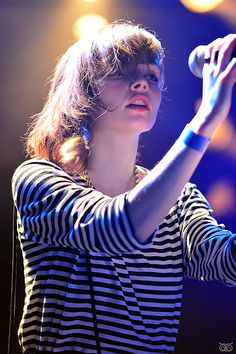 Lauren Mayberry of CHVRCHES.