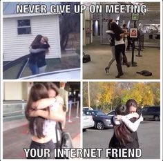 I won't give up on meeting mine ❤ internet friends quotes, online Internet Friends Quotes, Online Friends, Friend Memes, Real Friends, Friend Quotes, I Wont Give Up, Drinking Quotes, Band Memes, Boyfriend Goals