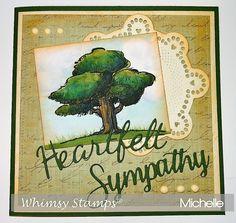 Beautiful sympathy card