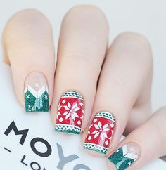 If you arent good in drawing and with brush, go to the store and buy ready-made stickers to decorate your nails.