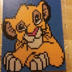 Simba - The Lion King  perler beads by origamiandpoetry