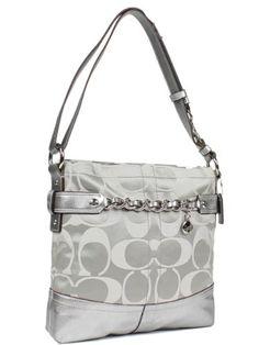 $278.00 Coach 24CM Signature Grey Sateen Chain Duffle Hobo Handbag 18862 Graphite/Platinum -  http://www.amazon.com/dp/B005TK9GIS/?tag=pin0ce-20