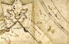 architectural drawings & models, spatial drawings. sketches. collage. Michelangelo's war