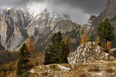"""Photo by @shonephoto (Robbie Shone) - Pictured during late Autumn, the mountain in the background, which lies in the Italian Dolomites is called…"""
