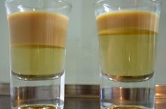 Buttery Nipple Shot - butterscotch schnapps with Bailey's Irish Cream floater on top. Fun and yummy after dinner drink!