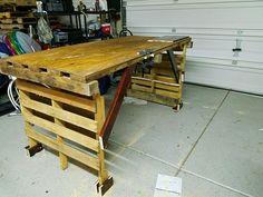 Pallet mobili ~ Pallet work bench wood pinterest pallet work bench pallets