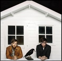 Dan Auerbach & Patrick Carney The Black Keys and a raven ... edgar allan poe style!!