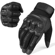 US Military Issue D-3A Light Duty Black Leather gloves Biker Motorcycle SZ 4 5