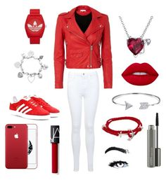 """Red Knight!"" by tatyanadlewis05 on Polyvore featuring IRO, Miss Selfridge, adidas Originals, adidas, Humble Chic, Bling Jewelry, ChloBo, Lime Crime, MAC Cosmetics and RedAdidas"