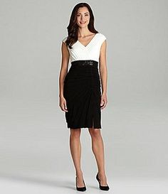 London Times Petites ShutterPleat Sheath Dress #Dillards | Variety ...