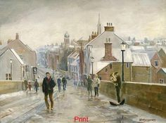 Bill Hindmarsh Elvet Bridge in Winter, Durham Durham University, Durham City, St Johns College, Nostalgic Pictures, Bishop Auckland, Local Hospitals, Northern England, Minimalist Painting, North East England