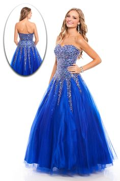 2015 New Arrival Sweetheart A Line Prom Dresses Tulle Beaded Bodice