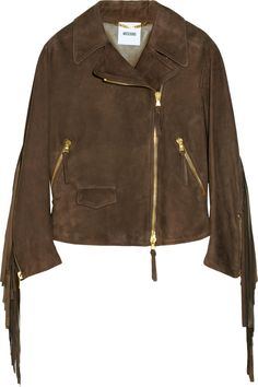 Fringed suede jacket by Moschino---- perfect collar
