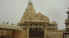 """The #Somnath temple located in Gujarat is one of the main 12 Jyotirlinga shrines of Lord #Shiva in India. It is also known as """"The Shrine Eternal"""" because it has been destroyed and plundered 16 times by invaders. It has a history of being rebuilt and was most recently rebuilt in 1947. #India 