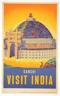 TR14 Vintage See India Indian Chhattar Manzil Lucknow Travel Poster Re-Print A4