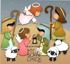 Christmas Nativity 2- Shepherds: click to enlarge