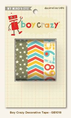 Boy Crazy Decorative Tape by My Minds Eye, LLC - Two Peas in a Bucket