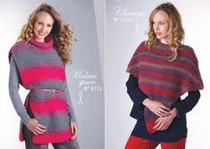 Réalisation poncho femme Chicago par Lammy Yarns tricot