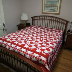 Janet B. shared her awesome Red and White Love Quilt on AccuQuilt Quilter's Spotlight. See Show-and-Tell from other quilters or share your favorite. Star Quilts, Quilt Blocks, Hunters Star Quilt, Fabric Cutter, Red And White Quilts, Quilt Bedding, Cool Things To Make, Quilt Patterns, Blanket