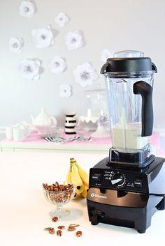 @Vitamix Breakfast Recipes – Banana and Pecan Waffles   @kimbyers