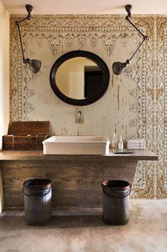 Wall & Deco first exhibition at Maison et Objet Paris Bad Inspiration, Bathroom Inspiration, Bathroom Ideas, Design Bathroom, Bathroom Vanities, Interior Inspiration, Wall Design, House Design, Old Wall