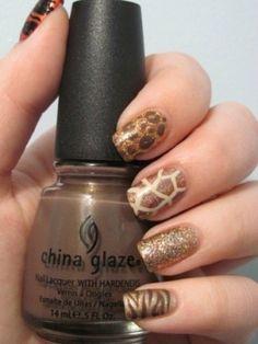 wild animal safari. like this shade of China Glaze polish too. perfect nude tone!