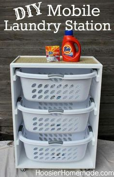 Laundry bins ---I think I may make this for a toy bin for each of the girls!!!
