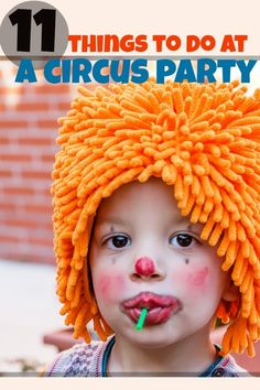 circus birthday party activity ideas