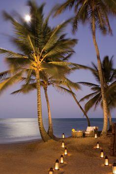 The moonlit beach at Zoetry Agua Punta Cana resort, #Beach Resort