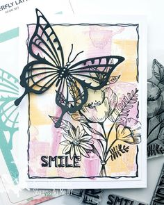 Flower Stamp, Stamps, Butterfly, Flowers, Cards, Seals, Florals, Postage Stamps, Bowties