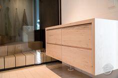 Storage unit from poplar wood Finnish Sauna, Solid Wood, Divider, The Unit, Bathroom, Storage, Projects, Furniture, Home Decor