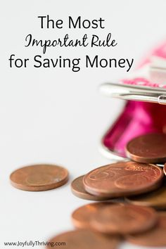 We often make saving money too complicated so let's simplify. What's the most important rule for saving money? Money Saving Mom, Best Money Saving Tips, Ways To Save Money, Save Money On Groceries, How To Make Money, Life On A Budget, Household Expenses, Frugal Living Tips, Fun To Be One