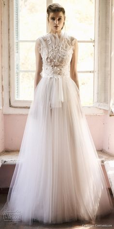 christos costarellos spring 2018 bridal sleeveless heavily embellished bodice romantic soft a line wedding dress mv -- Costarellos Spring 2018 Wedding Dresses Asian Wedding Dress, Modest Wedding Gowns, Pregnant Wedding Dress, White Wedding Dresses, Cheap Wedding Dress, Wedding Attire, Bridal Dresses, Bridesmaid Dresses Plus Size, Marie