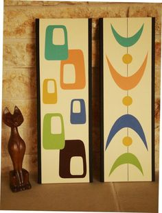 Mid Century Modern Paintings (sold separately) by donnamibus on Etsy.