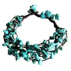 rock candy bracelet turquoise Thai Village #fairtrade #Thailand #handmade #Thaivillageinc