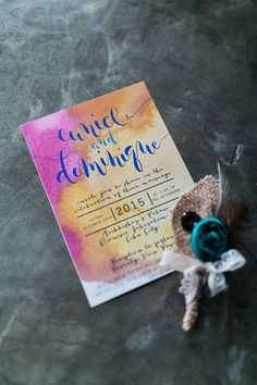 A wedding invite that perfectly expresses the couple's personality! Eunice and Dominique <3 <3 <3 #eunique  Photo by: Marlon Capuyan Photography     #watercolorinvite #weddinginviteph #wedding #weddingsph #watercolorph #calligraphy #calligraphyph #cebucalligraphy #calligrapher #flourishforum #handwritten #handdrawn #artinvite #art #rsvp #brushcalligraphy #love #passion #firstofaprildesigns #firstofaprilinvites #FOAinvites #firstofapril