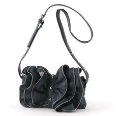 Wild Zipper Petals Shoulder Bag ($28) via Polyvore