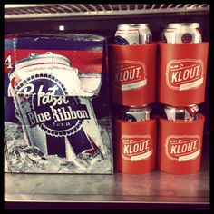 I want a #kloutkoozie so bad haha!   @klout dev night with @PBR_SF. #kloutitout - @claytonsu