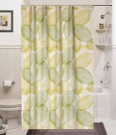 Brand new narrow width textile shower curtain 120CM wide x 200CM long (Autumn Leaves)