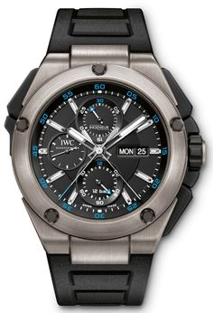 Men's IWC Ingenieur Double Chronograph Titanium Watch IW386503