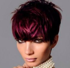 Tendenze colore capelli corti 2013: color prugna