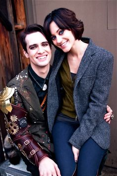 brendon & sarah // brendon-urie.com--really like her hair